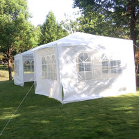 3 x 9m Portable Home Use Waterproof Tent Shade White Garden Wedding Gazebos Parking Shed Outdoor Marquee Shade
