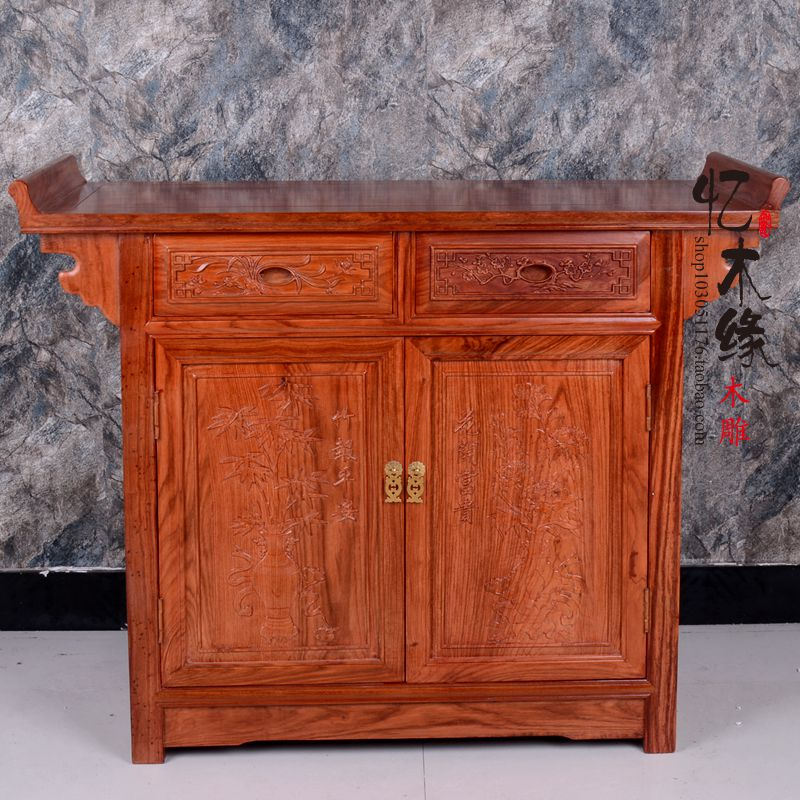 Mahogany furniture African rosewood two fed cabinet sideboard tea cabinet wooden porch ark cabinet