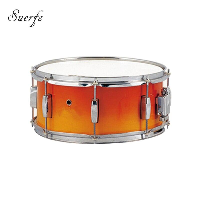 suerte high quality drum 14 6 5 size orange painting birch snare drum polyester drumhead. Black Bedroom Furniture Sets. Home Design Ideas