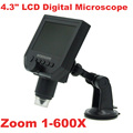 "1-600x 3.6MP USB Digital Electronic Microscope Portable 8 LED VGA Microscope With 4.3"" HD OLED Screen Free Shipping"