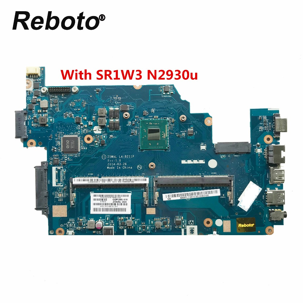 Reboto Original FOR ACER E5 511 Laptop Motherboard NBMPL11001 NB.MPL11.001 With SR1W3 N2930u Z5WAL LA B211P MB 100% Tested-in Laptop Motherboard from Computer & Office    1