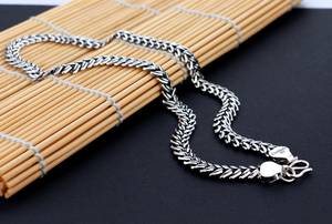 Image 3 - Mens 925 Thai Silver Necklaces Vintage Style Snake Chain Design 66cm Size Solid Silver Jewelry Party Accessories Birthday Gift