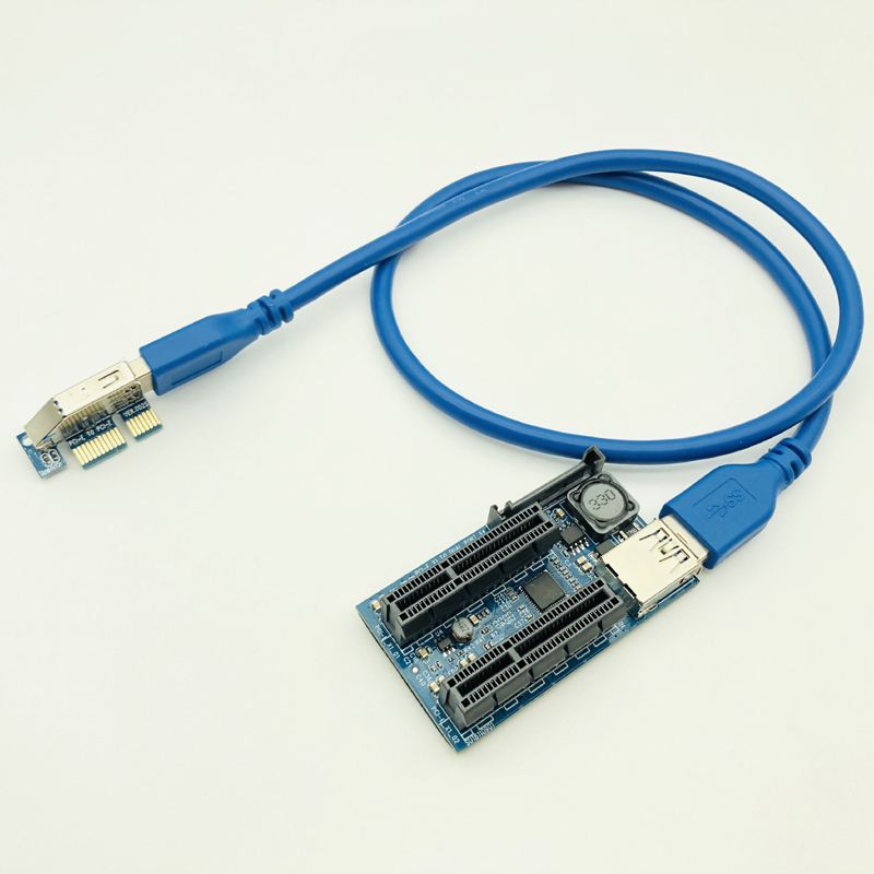 NEW Add On Card PCI Express USB 3.0 Adapter Raiser PC Components Extender PCIE Riser PCI-E Card Riser PCI E Riser For Video Card