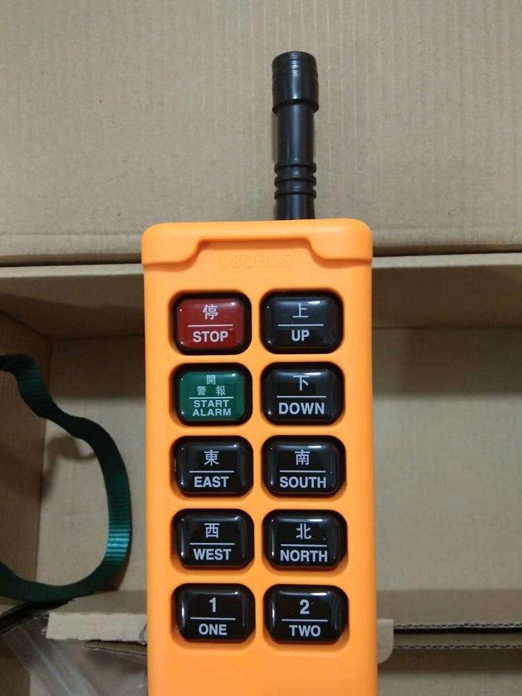 HS-10 10 Keys 1 Transmitter + 1 Receiver Hoist Industrial Wireless Crane  Remote Control Push Button Switch