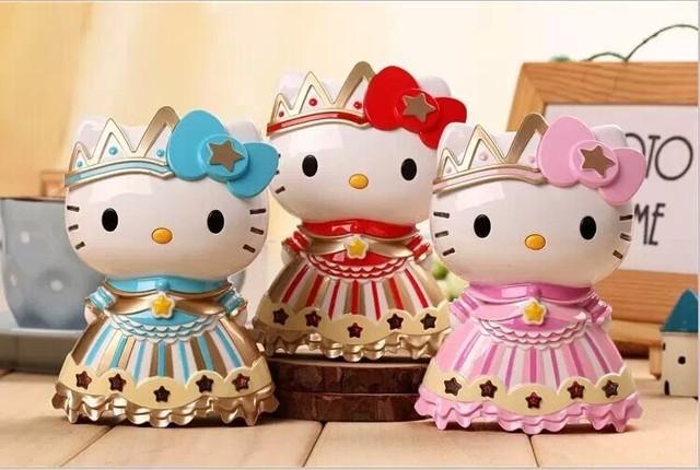 (1 unid) Banco de la Energía 6800 mAh Lindo Hello Kitty Queen girl Móvil Cargador para iphone 7 plus xiaomi htc ios android teléfono caliente venta al por mayor