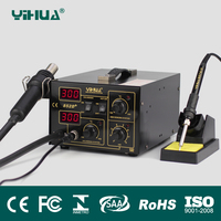YIHUA 852D+0V 700W Pump Type Yihua 852D+ Hot Air Gun Digital Soldering Iron SMD Rework Station Better than Saike