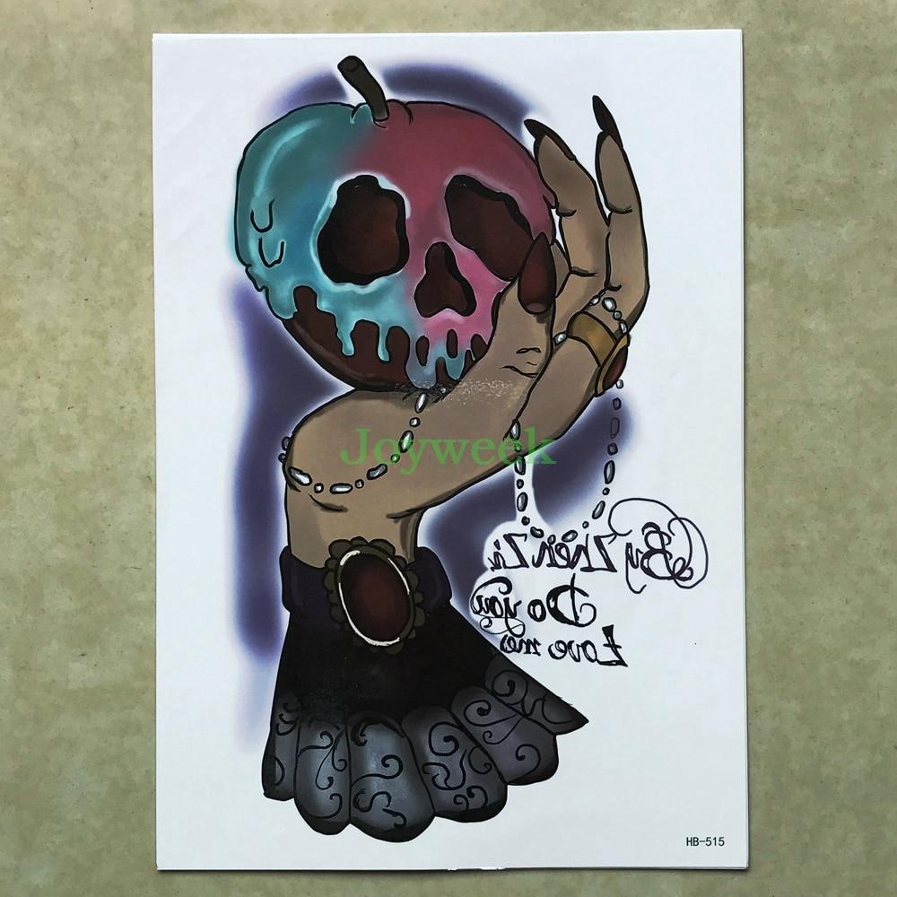 Temporary Tattoo Sticker Large Size Body Art Sketch Flower: Waterproof Temporary Tattoo Sticker Large Size Skull Toxic