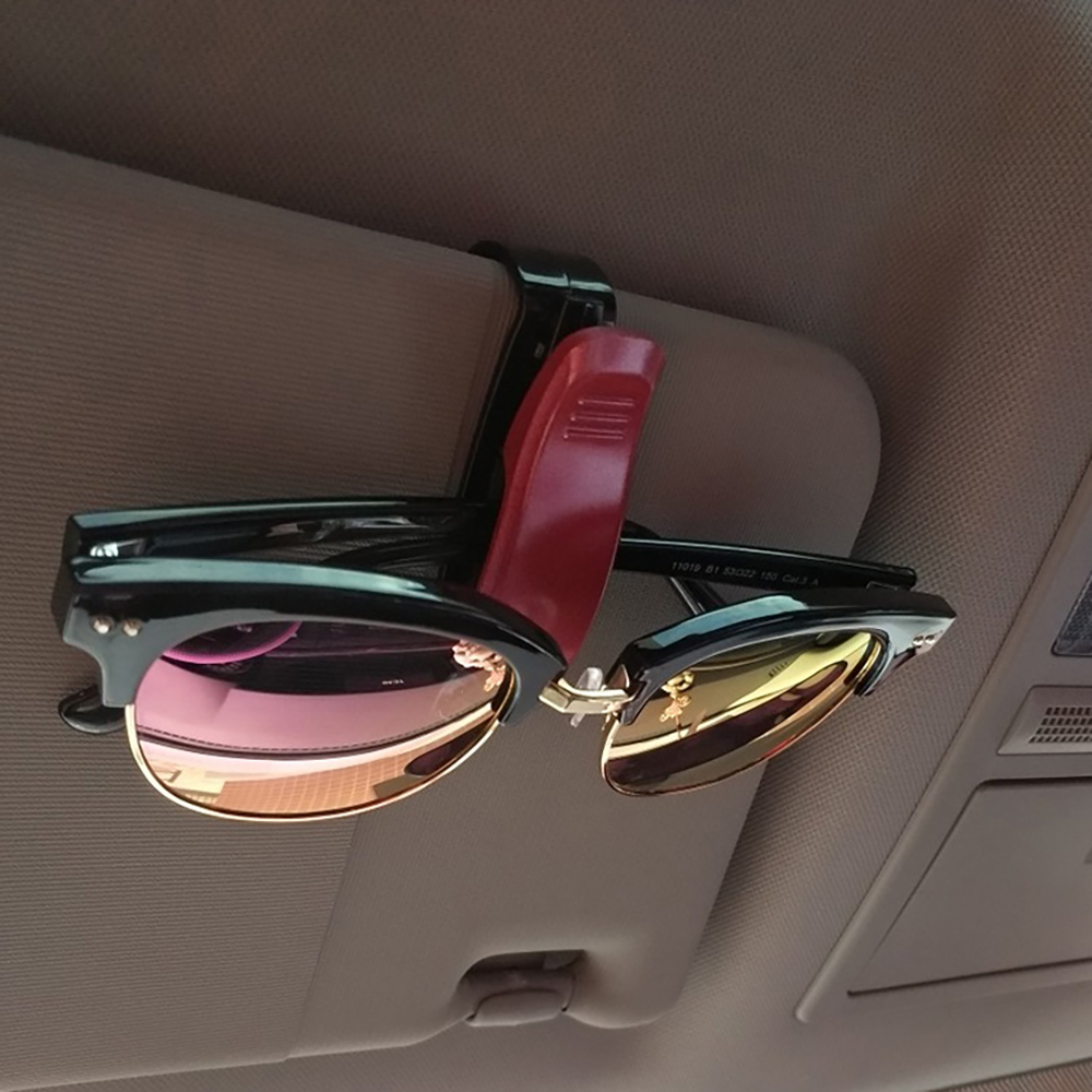 Горячая Авто крепежный зажим авто аксессуары ABS автомобиль солнцезащитный козырек солнечные очки, очки держатель зажим для билета