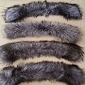 Winter 100% Real Natural Fox Fur Collar & Womens Scarfs Fashion Coat Sweater Scarves Collar Luxury Silver fox Fur Neck Cap L#7