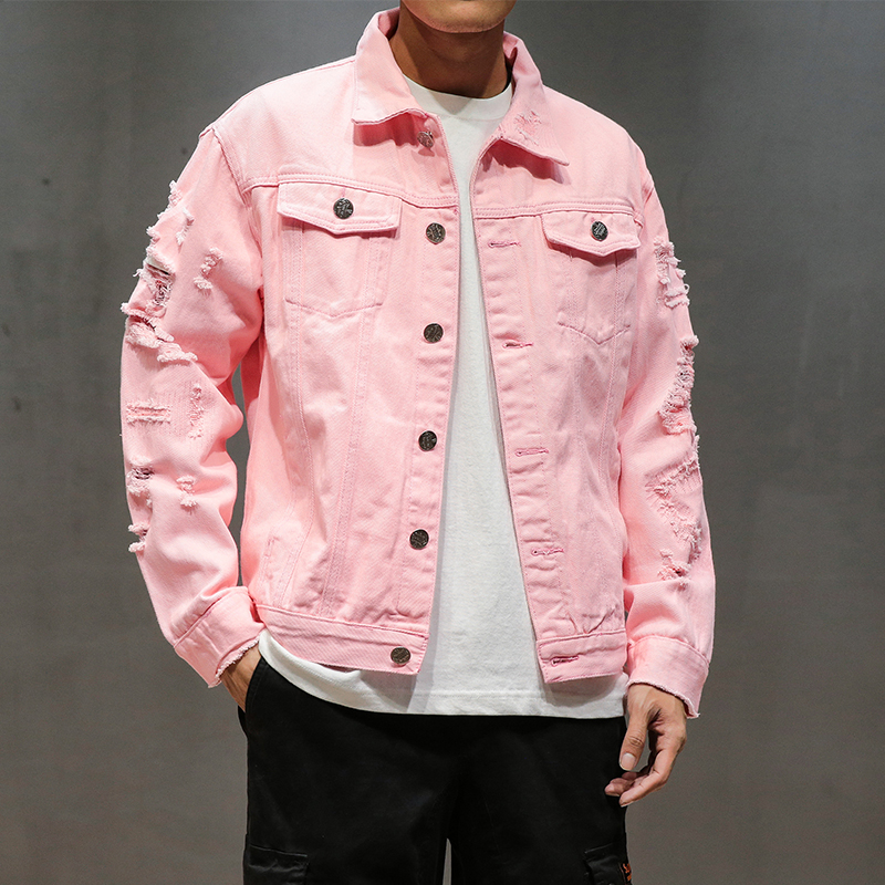 Casual Fashion Men Women Distressed Solid Coat 1