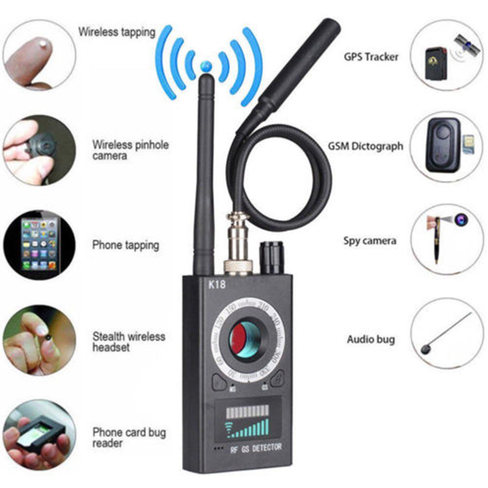 RF Signal detector Anti-spy Detector Camera K18 GSM Audio Bug Finder GPS Scan EU/US Plug