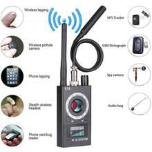 Rf sinal anti-espião detector câmera k18 gsm áudio bug finder gps scan plug eua
