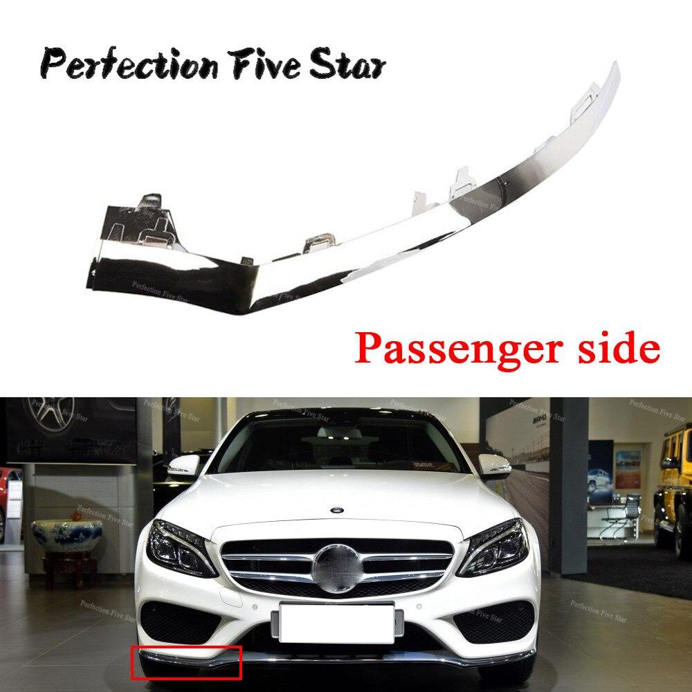 2058851474 Right Front Bumper Lower Chrome Molding Trim For Mercedes W205 C300 C450 C220 C180 C200