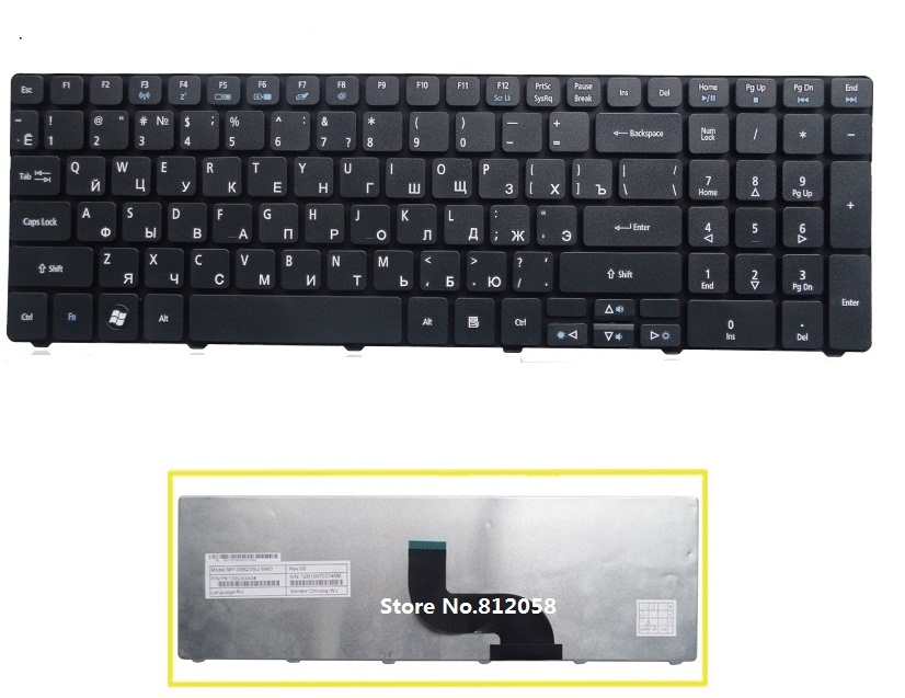laptop Russian RU keyboard for ACER eMachine E440 E640 E640G E642 E642G G443 G460 G460G E730G E730Z E730ZG E732g E732z