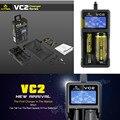 Pantalla LCD Universal XTAR VC2 VC2 XTAR Cargador Rápido cargador de Batería para 10440/16340/14500/14650/17670/18350/18500/18650