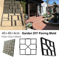 40x40x4cm Plastic Cement Mold Driveway Paving Path/Border Maker Mold Garden DIY Tool Concrete Stepping Mould