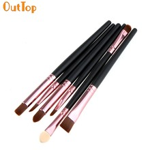 OutTop Love Beauty Female 6PCS/Set Hot Pro Beauty Makeup Brushes Eye Shadow Lip Cosmetic Make UP Brush Tools O18 DropshippingHW(China)