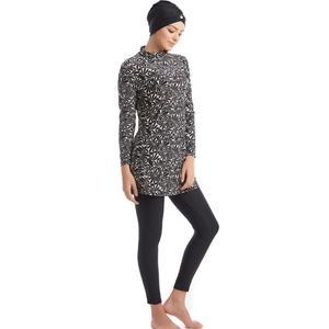 Image 2 - YONGSEN 겸손한 이슬람 수영복 Burkinis 전체 커버 이슬람 아랍 긴 소매 수영 세트 Bearwear Hijab 수영복 수영복