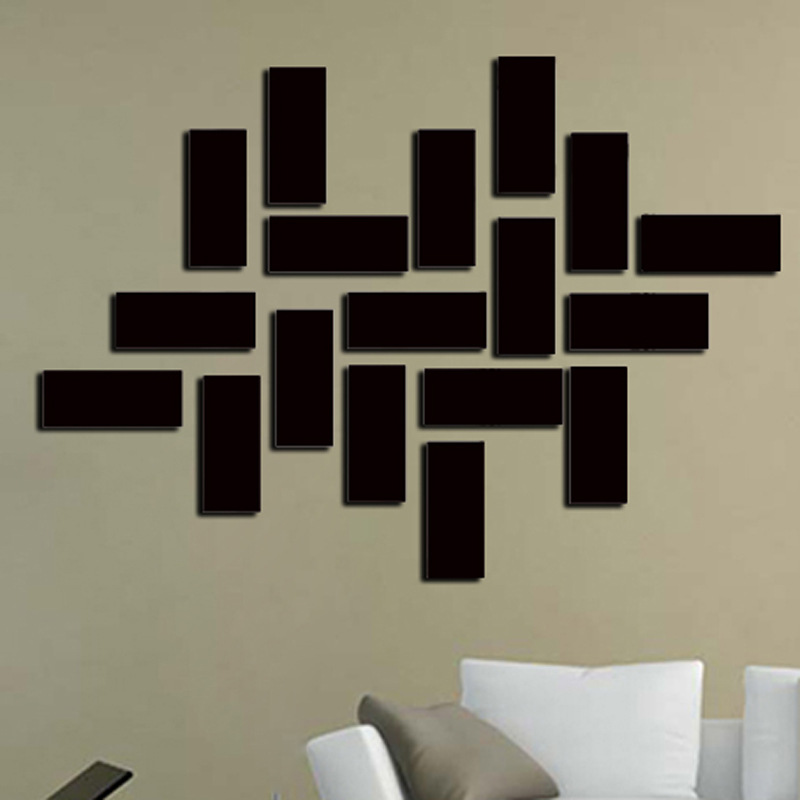 Square Rectangle Mirror Wall Stickers Home Decal Decor Removable Mirror Stickers