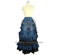 Victorian Lolita Edwardian French Bustle Skirt Gothic Lolita Dress With Glossy Surface And Ruffles Decorated Grace For Dancing