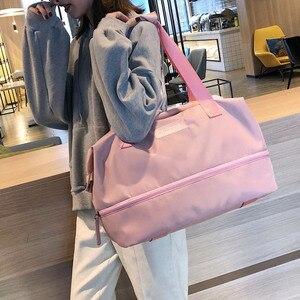 Image 2 - Sports Gym Fitness Dry Wet Separation Yoga Bag Travel Handbags For Shoes Women the Shoulder Sac De Sport Luggage Duffle XA965WD