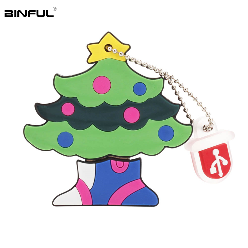 Image 3 - Hot Sale Christmas Gift Usb Flash Drive 32gb 64gb 128gb Lovely Cartoon Elk Pen Drive 16gb 8g 4g Usb2.0 Thumbdrives Free Shipping-in USB Flash Drives from Computer & Office