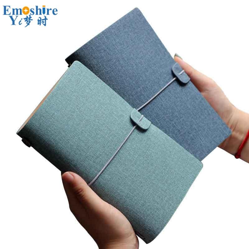 A6 Loose-leaf Straps Handbook Retro Minimalist Original Traveler Brand Handbook Custom Cotton Linen PU Creative Notebook N173 it ethics handbook