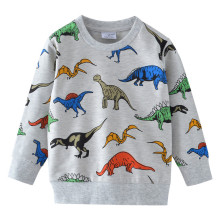 Boys T Shirts Autumn Long Sleeve Tops Kids Dinosaur Appliques Cotton Sweatshirt Children Clothing Clothes
