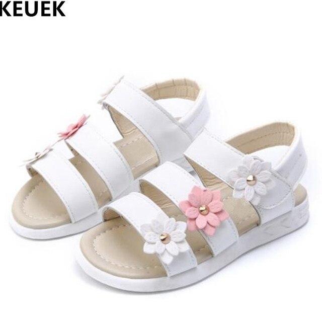 157fbab6664 NEW Children Sandals Summer Girls Sandals Flowers Princess Shoes Student Gladiator  Sandals Kids Baby Toddler Beach Shoes 044
