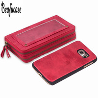For Funda Samsung Galaxy S6 Case Luxury Leather Magnet Back Cover For Samsung S6 Case Wallet