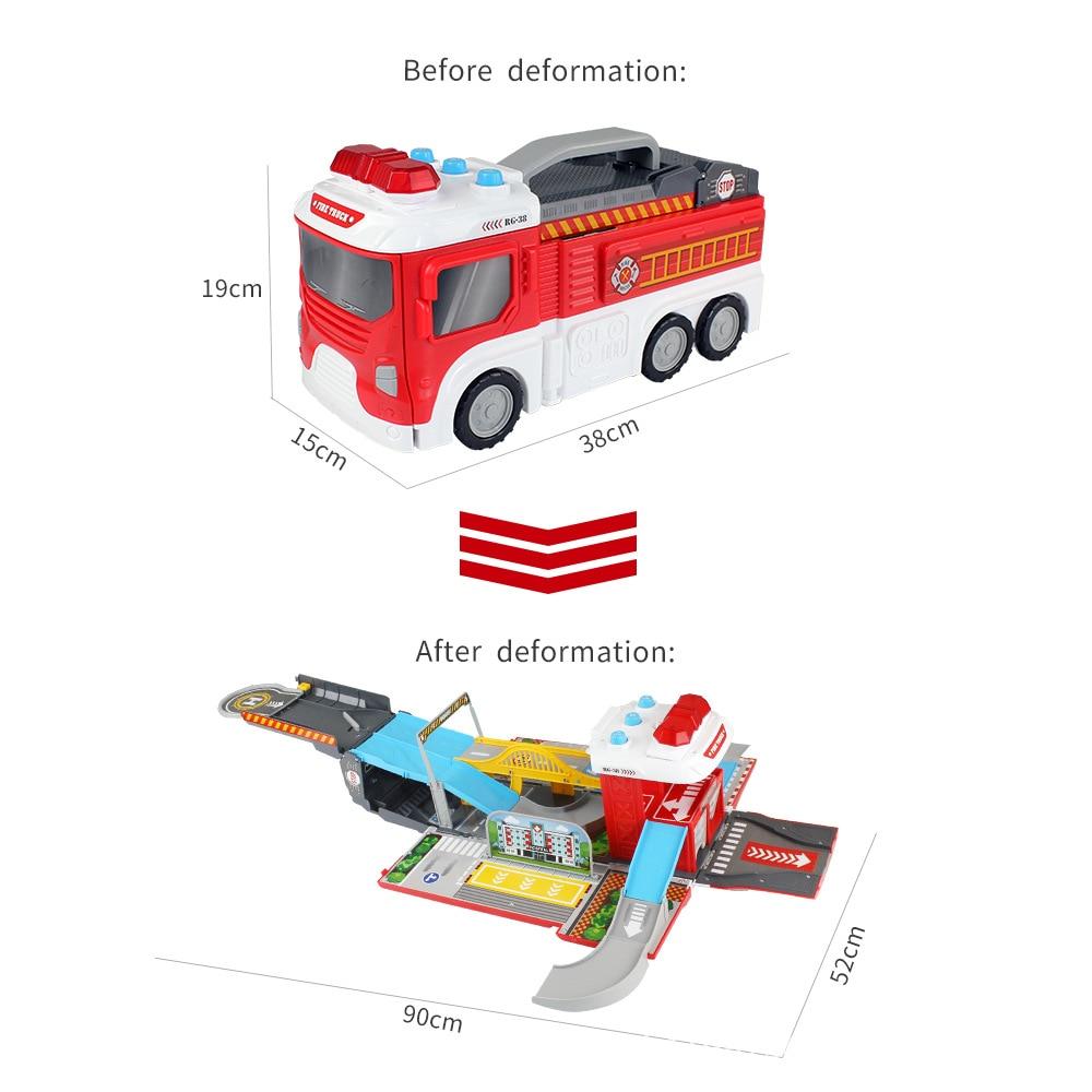 цена Truck Firetruck Juguetes Fireman Sam Fire Truck Vehicles Car Music Light Cool Educational Toys for Boys Kids Best Birthday Gift онлайн в 2017 году