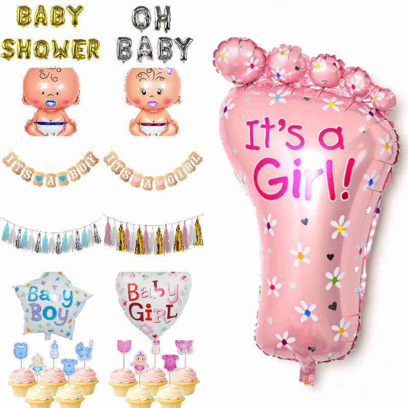 Its A Boy/Girl Hanging Garland Oh Baby Balloon Inflatable Helium Balloon Boy Girl Birthday Gender Reveal Baby Shower Decoration