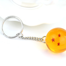 2.7cm Dragon ball Z Crystal 7 Stars Balls Keychain Goku Dragonball Action Figures Toys Car Key Chain Ring Styling Tool Gifts