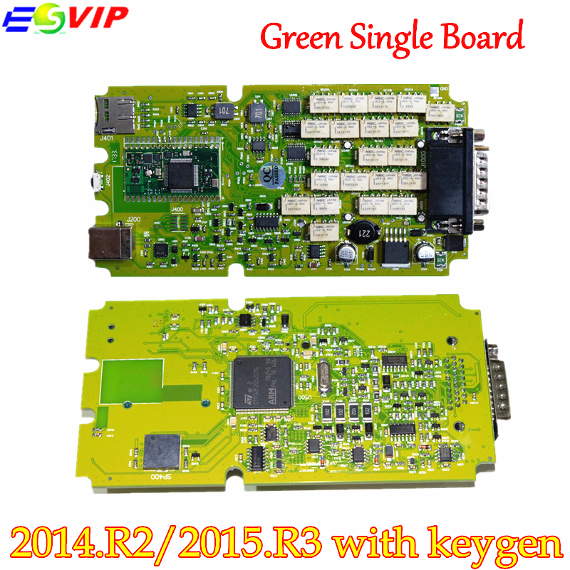 New arrival Single Board TCS CDP PRO PLUS +Generic 3 in 1 New NEC Relays bluetooth 2014 R2/2015R3 With Keygen tool free shipping with bluetooth japen nec relay latest new vci vd tcs cdp pro bt obd2 obdii obd with best pcb chip green single board