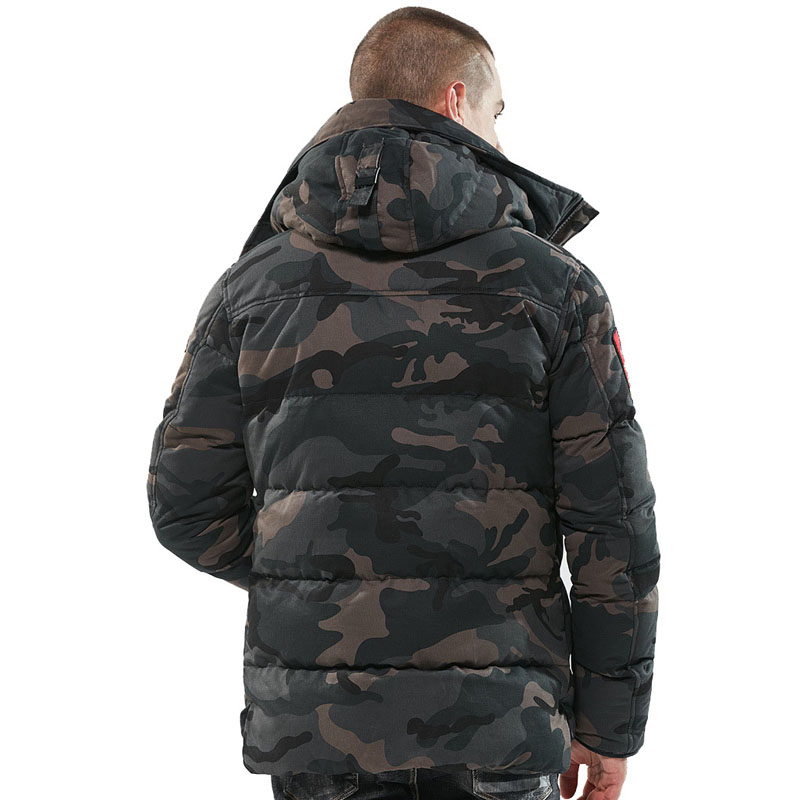 Image 4 - Parka Men Winter Jackets Cotton Chaquetas Hombre Camo Overcoat Mens Casual Camouflage Mens Jackets and Coats Wholesale-in Parkas from Men's Clothing