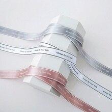 Индивидуальные DIY атласная печатная лента для упаковки подарков/свадьба/торт коробка/День рождения/Фестиваль/цветок с персонализированным логотипом