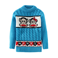 Baby Cartoon monkey sweater Kids cute pullovers Autumn/Winter cool tops Baby clothes Sweaters