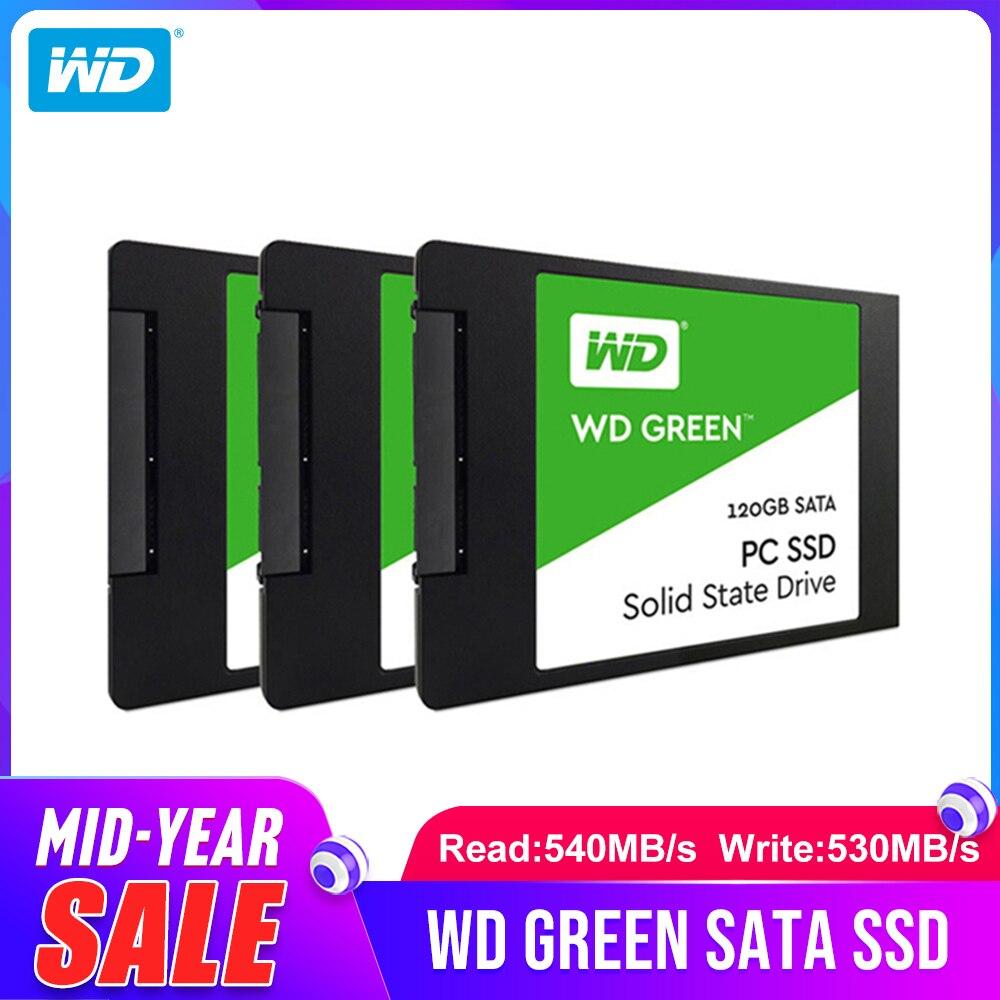 Western Digital WD SSD PC VERDE 120GB 240GB 480GB Drive de Estado Sólido Interno Sabit SATA3 Disco Rígido 6 GB/s para Laptop