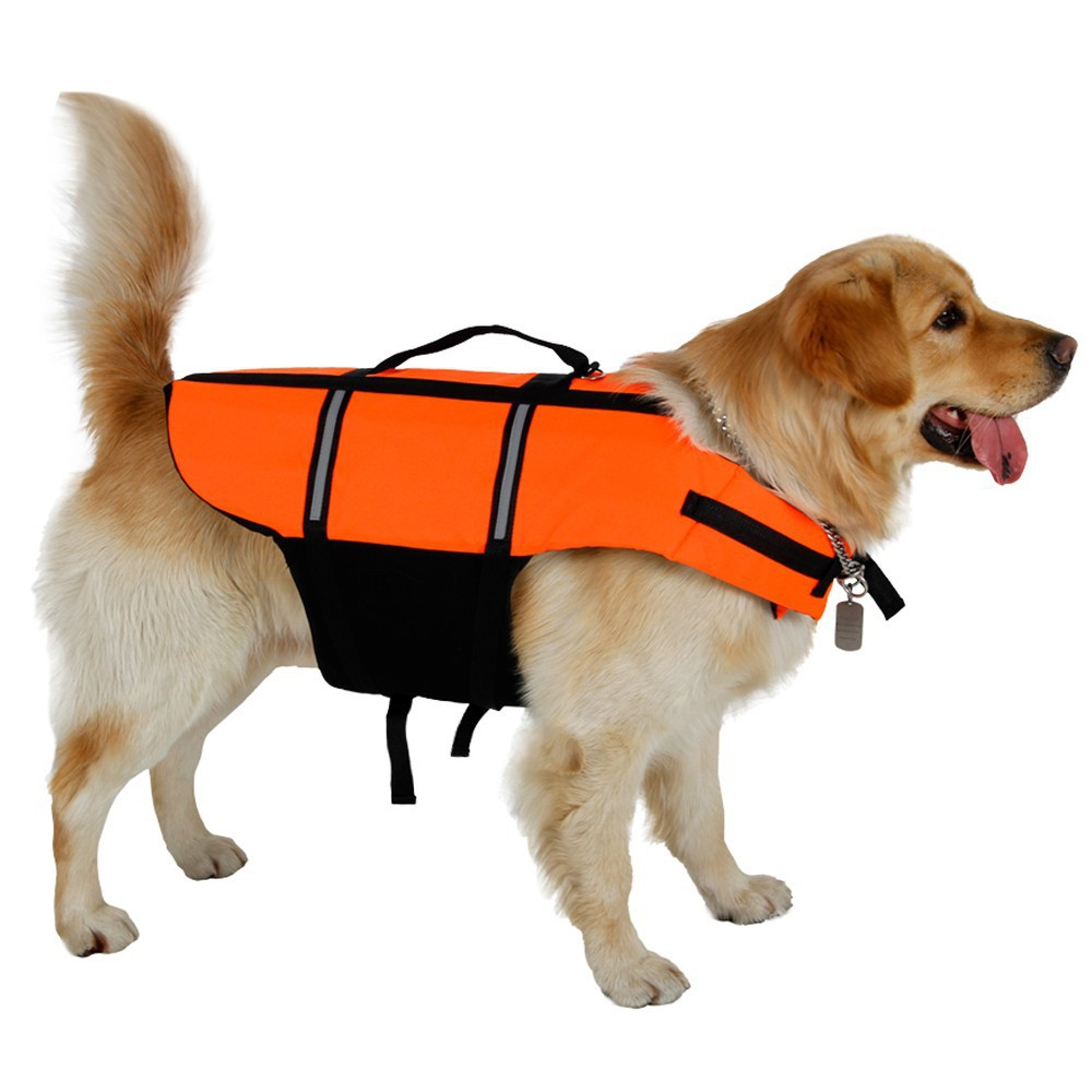 Dog Life Vest Adjust Water Sports Foam Life Jacket Safety Clothes Life Vest Collar Harness Saver Summer Swimwear Pet Clothes