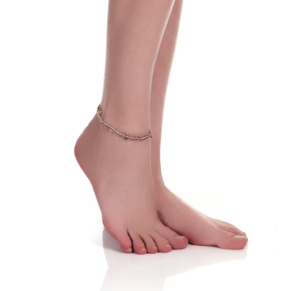 lacing on vintage anklet for ankle anklets wax string tortoise black women bracelets white fashion silver discount sale