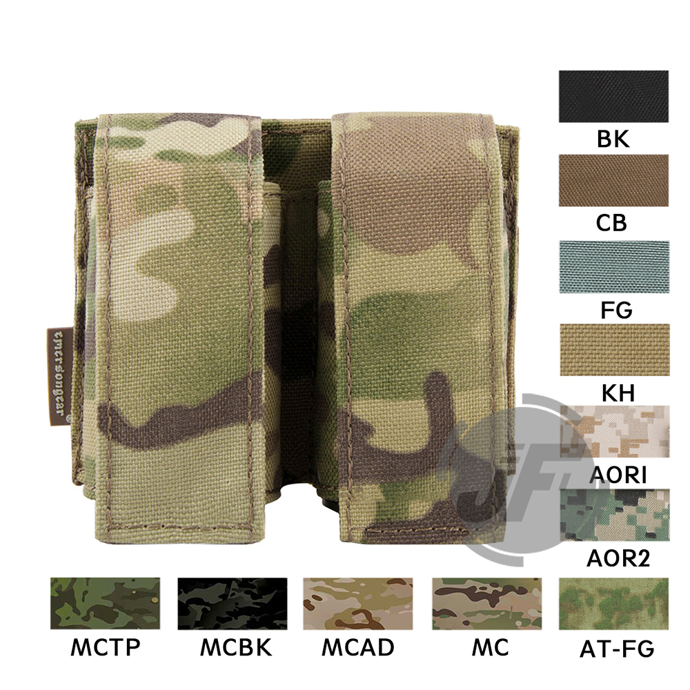 Emerson Tactical MOLLE Double 40mm Grenade Pouch Emersongear 9mm Magazine Holder Carrier Ammo Bag PALS Multicam MC