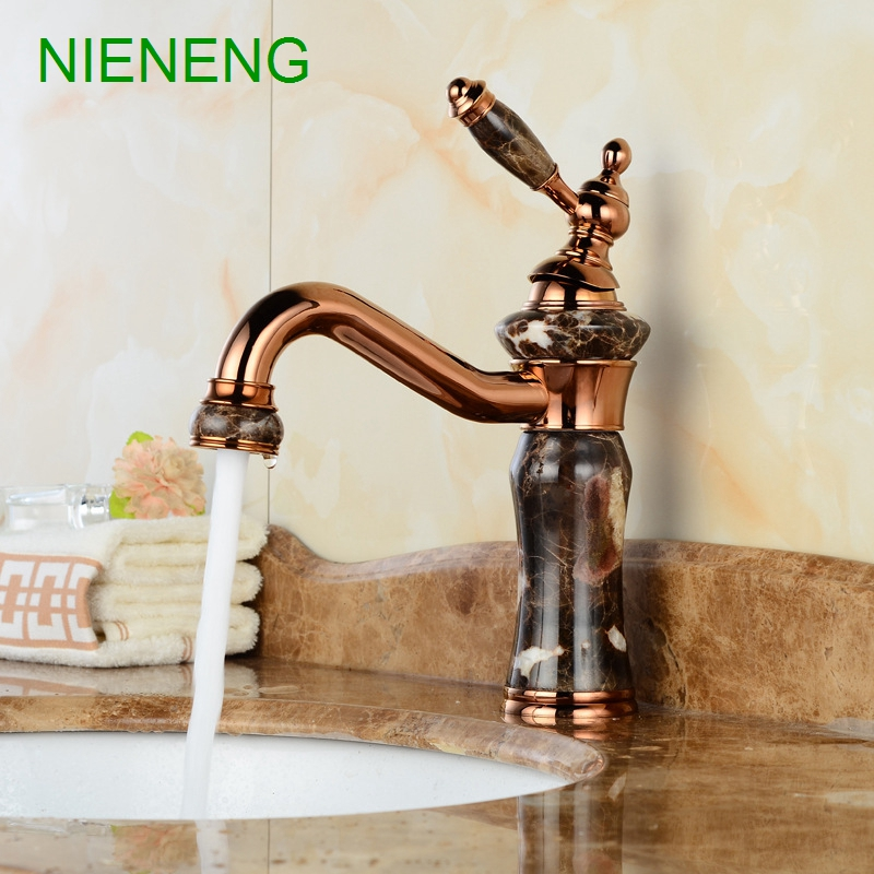 NIENENG bathroom faucet retro bronze sumptuous bowlder basin sink faucet device mixer tap home facility water taps ICD60211