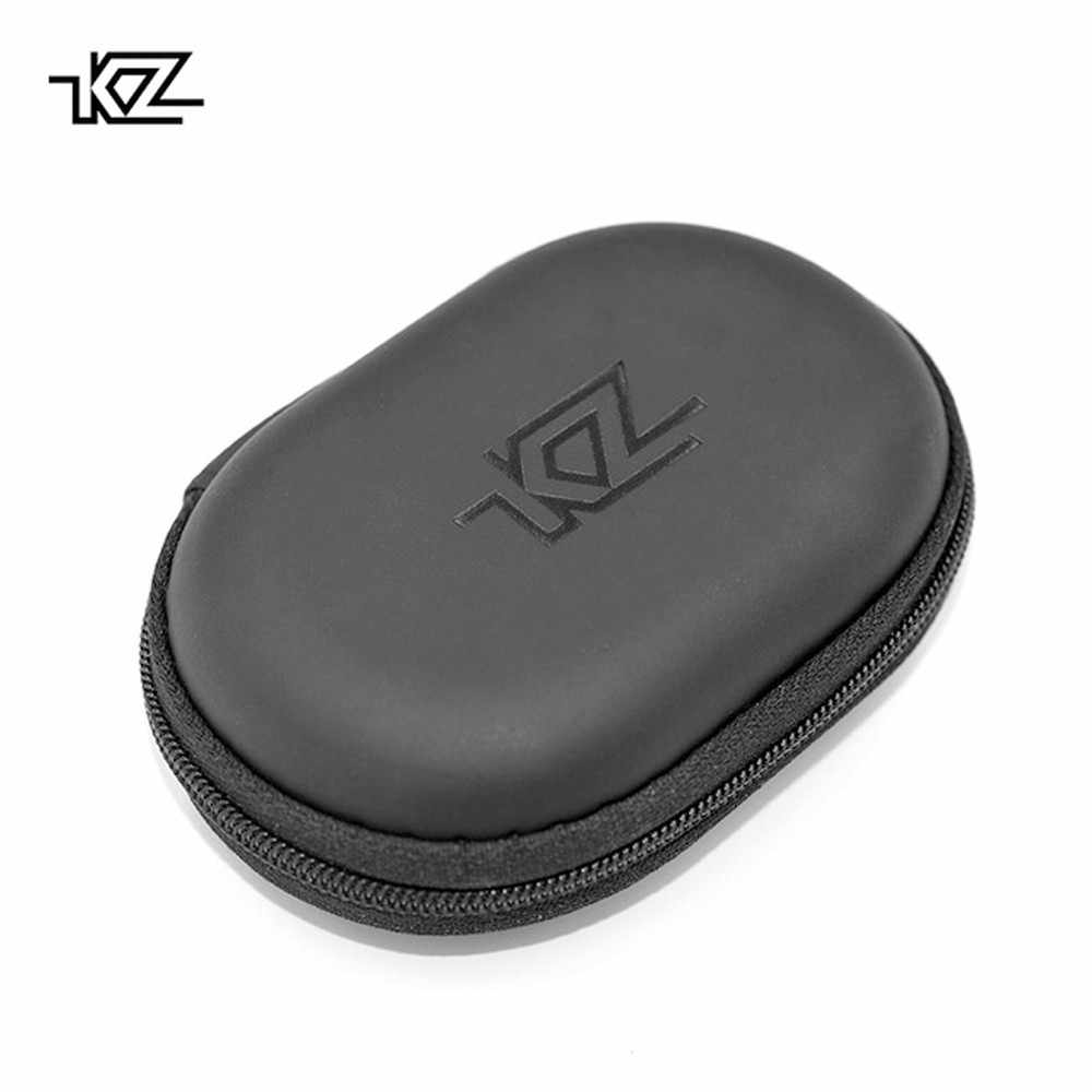 New KZ Headphone Bag 2019 Portable Headphone Storage Box For Headphones Cases black portable earphone case