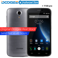 Doogee Y100 pro mobile phones 5.0Inch HD 2GB RAM+16GB ROM Android 5.1 Dual SIM MTK6735 Quad Core 8.0MP 2200mAH GSM WCDMA LTE GPS
