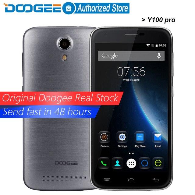 Doogee Y100 pro mobile phones 5.0Inch HD 2GB RAM+16GB ROM Android 5.1 Dual SIM MTK6735 Quad Core 8.0MP 2200mAH GSM WCDMA LTE GPS