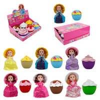 6 子供サプライズカップケーキ人形おもちゃマジック漫画香りカップケーキドレス人形ためふり再生誕生日ギフト 15 センチメートル