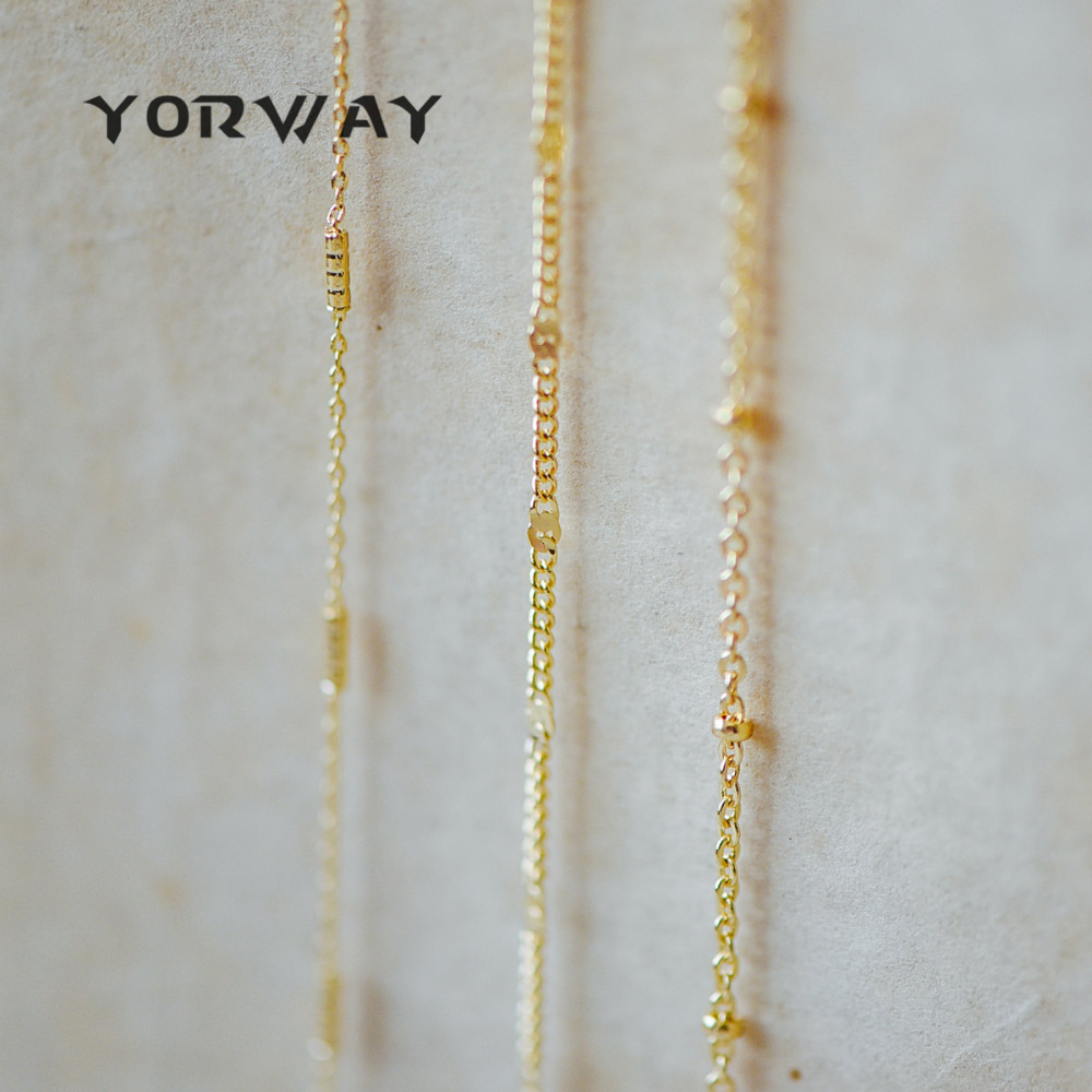 High Quality Gold Plated Brass Chains, Craft Jewelry Making Supply Chains, Lead Nickel Free