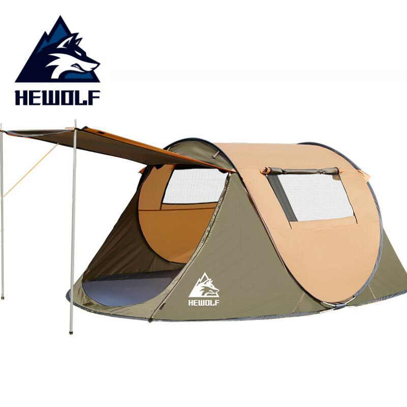 HEWOLF Portable Automatic Tents Waterproof Camping Hiking Beach Tent Throwing Pop Up Large Family Tents For Outdoor Recreation