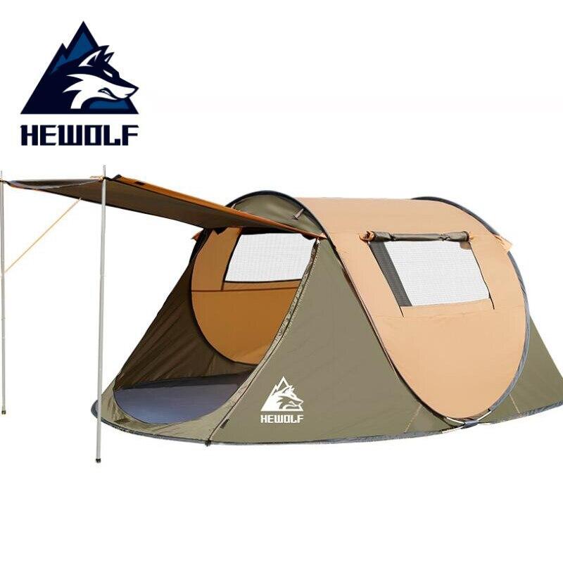 HEWOLF Portable Automatique Tentes Étanche Camping Randonnée tente de plage Lancer Pop Up Grande Famille Tentes Pour Loisirs de Plein Air