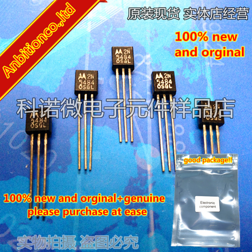10pcs 100% New And Orginal 2N5484 TO-92 JFET VHF/UHF Amplifiers In Stock